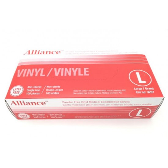 Gants vinyle non poudré Alliance Grand (x 100)